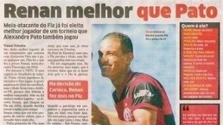 Renan foi formado na base do Flamengo