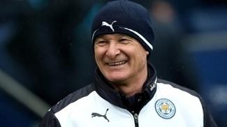 Claudio Ranieri, técnico do Leicester, na vitória sobre o Manchester City