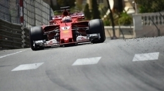 Sebastian Vettel durante o GP de Mônaco: terceira vitória na temporada 2017