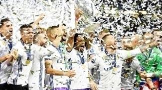 Real Madrid comemora o título da Champions League