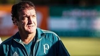 Cuca, durante treino do Palmeiras
