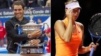 Rafael Nadal e Maria Sharapova, os destaques da última semana no tênis