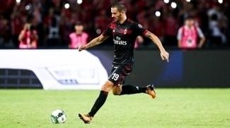 Bonucci em ação com a camisa do Milan