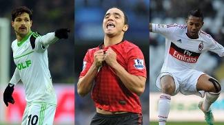 Diego (Wolfsburg), Rafael (Manchester United) e Robinho (Milan): quem foi o destaque?