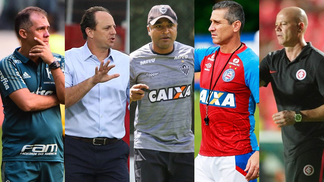 Eduardo Baptista, Rogério Ceni, Roger Machado, Jorginho e Antonio Carlos Zago: todos já caíram neste ano
