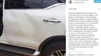 Torcedores vandalizam carro de Marcos Rocha: 'Nunca me senti tão decepcionado'
