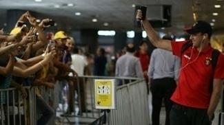 Magrão agradeceu o apoio da torcida no aeroporto antes da decisão