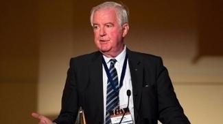 Craig Reedie, presidente da Wada, durante evento no dia 9 de março