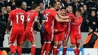 Benfica fez três golsno Besiktas só no primeiro tempo