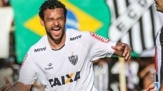 Fred comemora gol do Atlético-MG contra o Democrata, no Mineiro