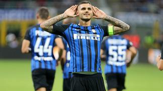 Mauro Icardi anotou dois tentos na vitória da Inter sobre a Fiorentina