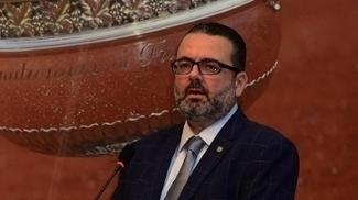 Jorge Lacerda, atual presidente da CBT, em evento em abril deste ano