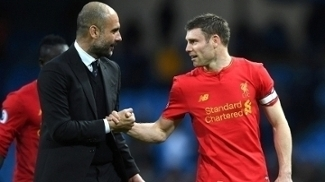 Guardiola cumprimenta Milner: personagens de um eletrizante City x Liverpool