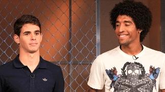 Oscar e Dante, os vencedores do Prêmio Futebol no Mundo