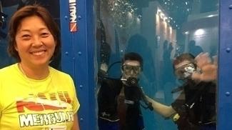 Lilian Notomi, empresária e instrutora de mergulho, na Adventure Sports Fair