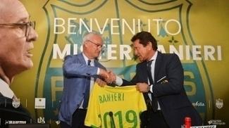Claudio Ranieri assumiu o comando do Nantes