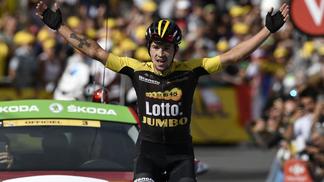 Primoz Roglic venceu a 17ª etapa do Tour de France, nesta quarta-feira.