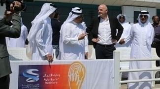 Presidente da Fifa visitou a capital do Catar em abril de 2016