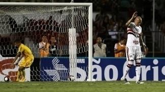A reação de Maicon, após o primeiro gol do Mirassol