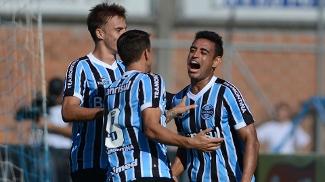 Werley comemora gol do Grêmio no Gaúcho