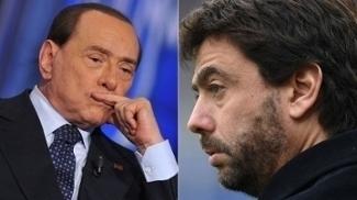 Berlusconi, do Milan, e Agnelli, da Juventus, vivem realidades diferentes em seus clubes