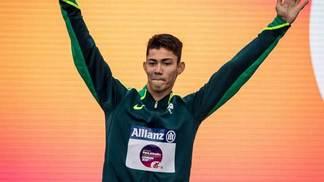 O brasileiro Rodrigo Parreira está na final dos 100m T36 do Mundial Paralímpico de Atletismo