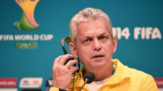 O técnico do Equador, Reinaldo Rueda, em entrevista no Maracanã