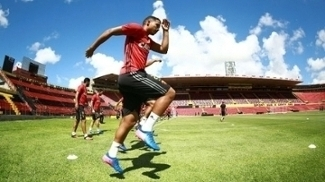 Na manhã desta terça-feira o Sport fez último treino antes de enfrentar o Joinville