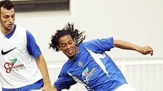 Edu Dracena Ronaldinho Gaucho Treino Seleção Brasileira Copa das Confederações 15/06/2003
