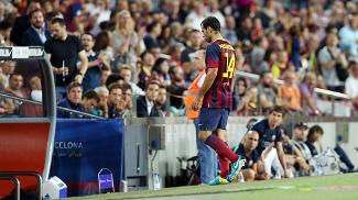 Mascherano deixa o Camp Nou após lesão sofrida no joelho
