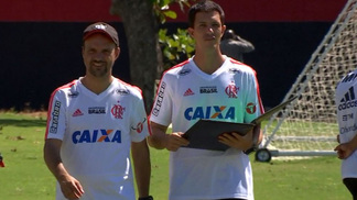 Barbieri durante treino do Fla