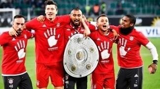 Bayern Comemora Titulo Campeonato Alemão 29/04/2017