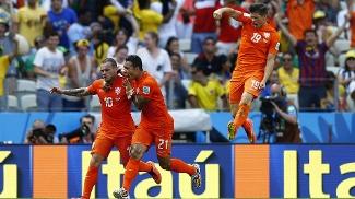 Sneijder marcou o gol de empate para a Holanda