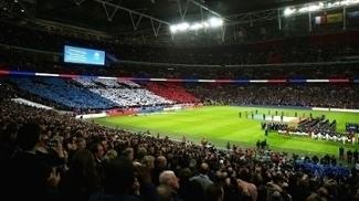 Inglaterra Franca Mosaico Bandeira Wembley 17/11/2015