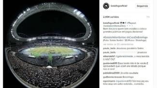 Botafogo provocou o Flamengo no Instagram