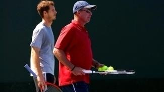 O tenista Andy Murray e o técnico Ivan Lendl