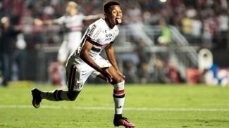 David Neres Comemora Gol Sao Paulo Corinthians Campeonato Brasileiro 05/11/2016