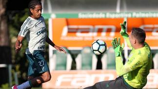 Keno foi um dos destaques no treino do Palmeiras