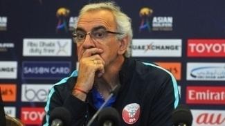 Técnico Jorge Fossati durante entrevista coletiva da seleção do Catar