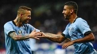 Luan e Michel, no empate entre Grêmio e Cruzeiro no Mineirão pelo Brasileiro