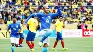 Neymar Comemora Gol Brasil Equador Eliminatorias Copa-2018 01/09/2016