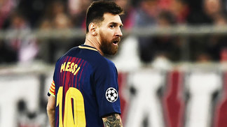 Messi Barcelona Olympiacos Champions 31/10/2017