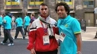 Bahaa e o brasileiro Marcelo, em Londres-2012