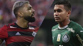 Gabigol e Dudu em ação por Flamengo e Palmeiras 777e18171b001