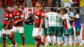 Palmeiras e Flamengo se enfrentaram no Mané Garrincha em 2016