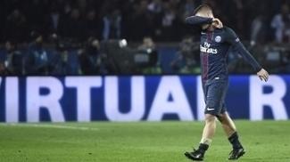 Verratti, durante a vitória do PSG pra cima do Barcelona por 4 a 0 na Champions League
