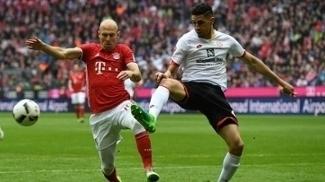 Arjen Robben, na partida entre Bayern de Munique e Mainz, na Bundesliga