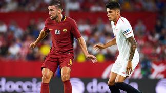 O Sevilla venceu a Roma por 2 a 1 nesta quinta-feira