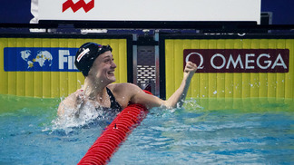 Mireia Belmonte comemora vitória na Holanda