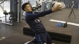 Marquinhos Gabriel, durante atividade na academia nesta quarta-feira